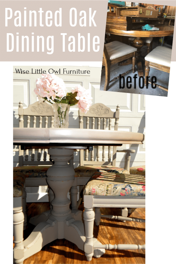 painted oak dining set