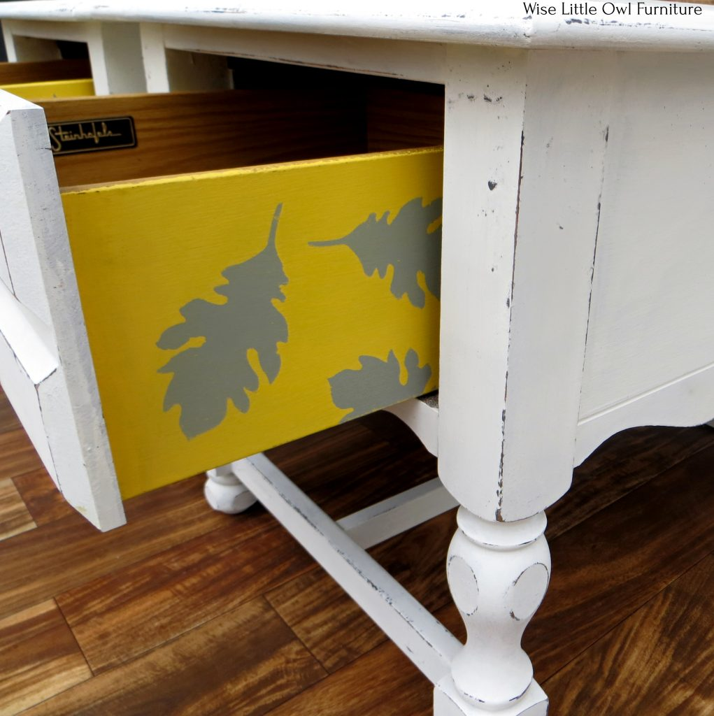 drawer side yellow with stencil