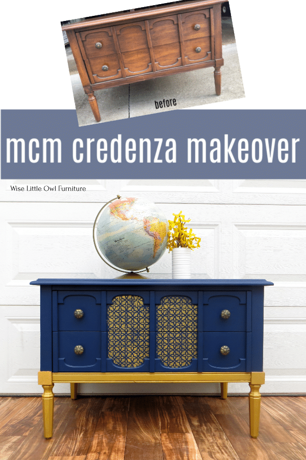 mcm credenza before and after