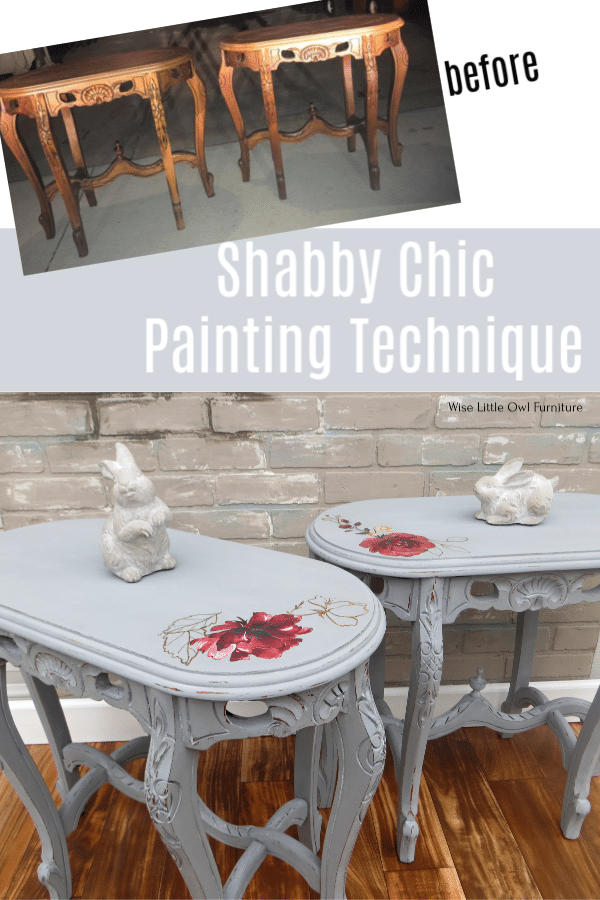 shabby chic side tables before and after