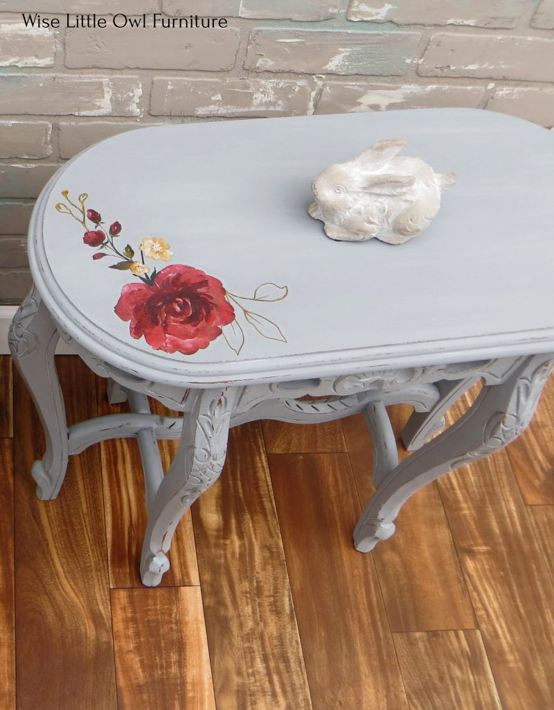 shabby chic single side table