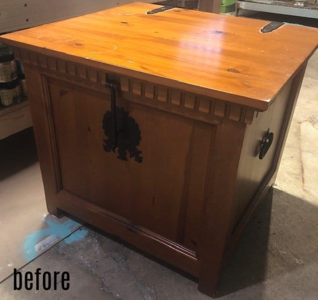 trunk end table before