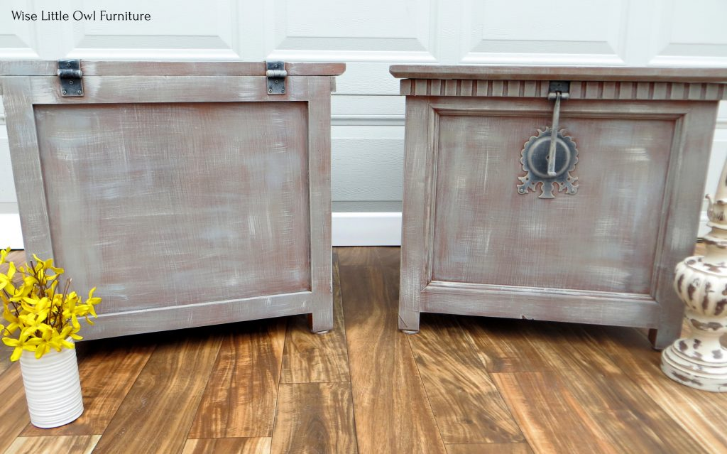 trunk end tables front and back