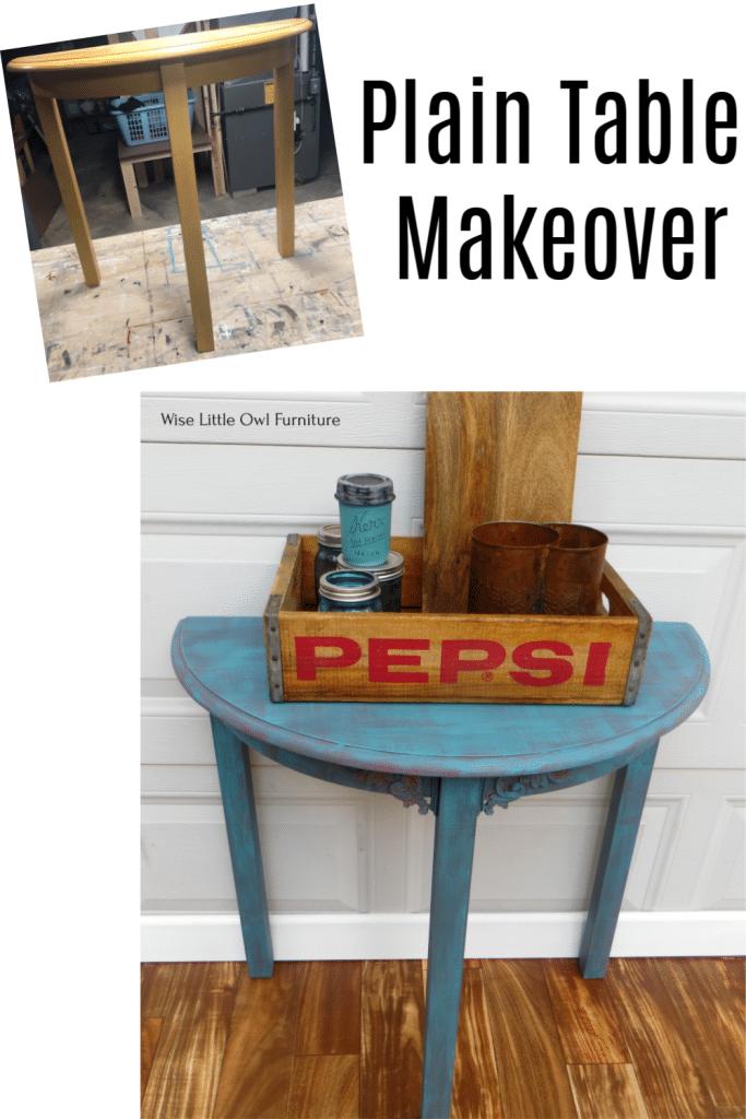 plain table makeover