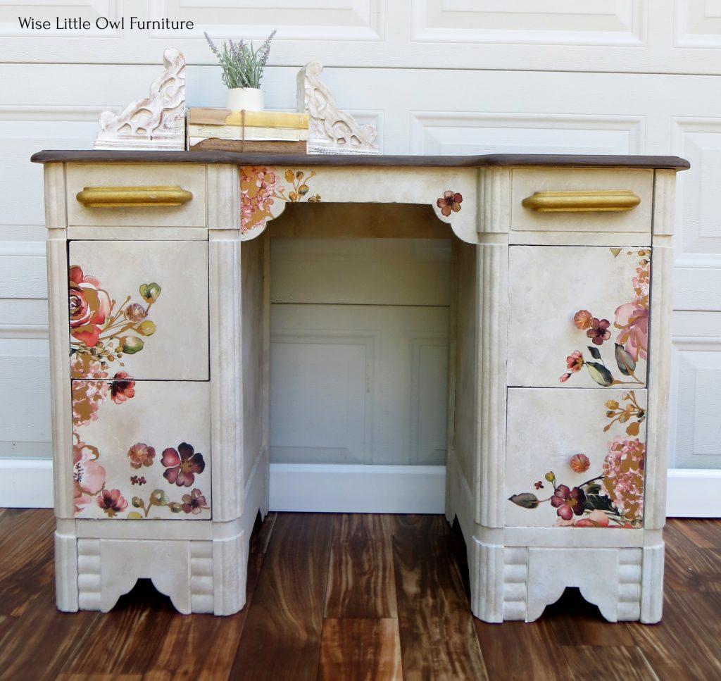 floral vanity front