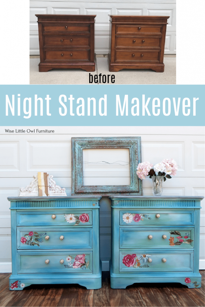 Blue-green night stands pin