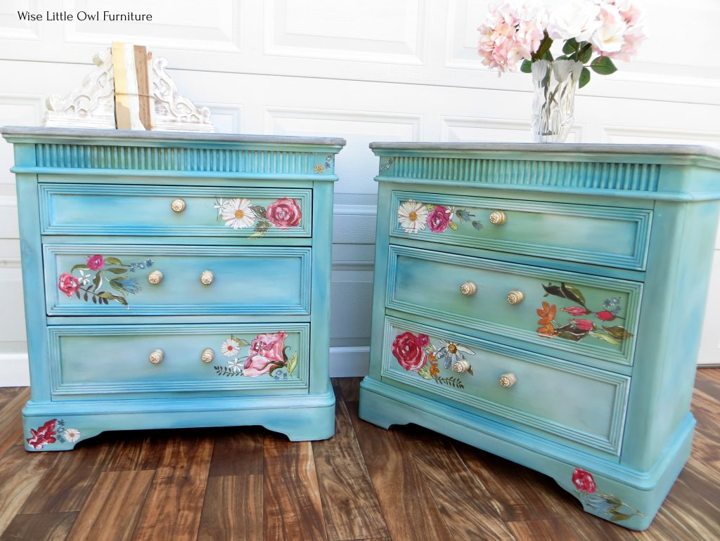 blue-green night stands