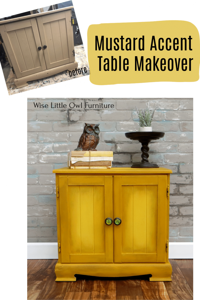 mustard accent table pin