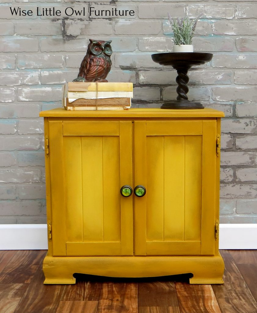 mustard cabinet front
