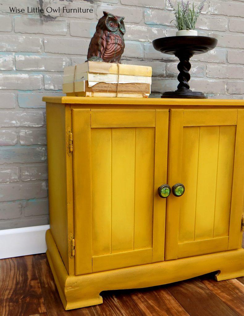 mustard cabinet left angle