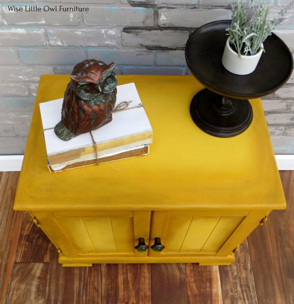 mustard cabinet top