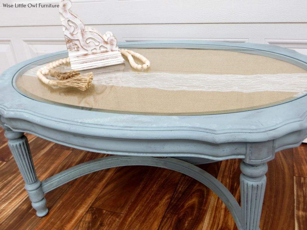 French coffee table right angle