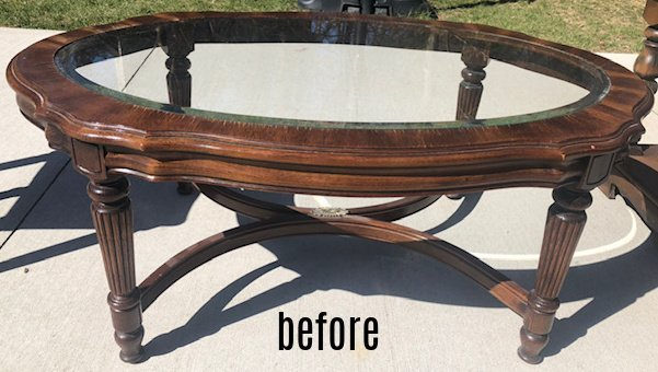 French coffee table before
