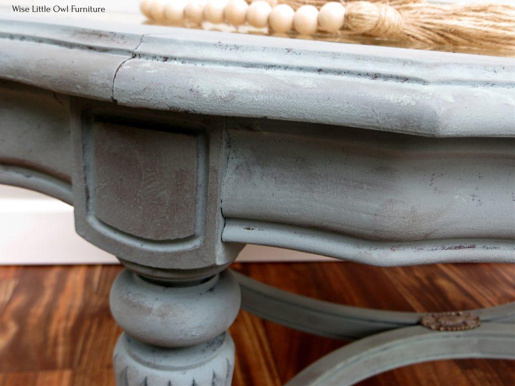 French coffee table leg detail