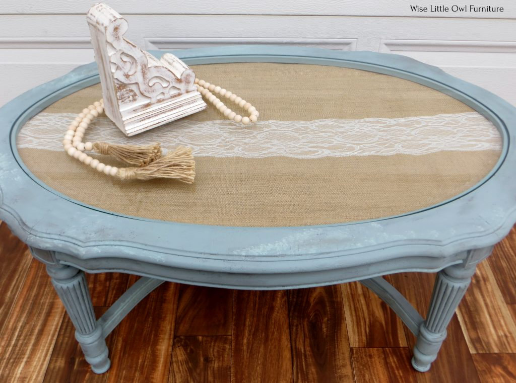 French coffee table front