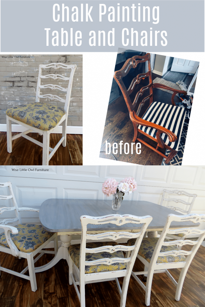 chalk painting table and chairs pin