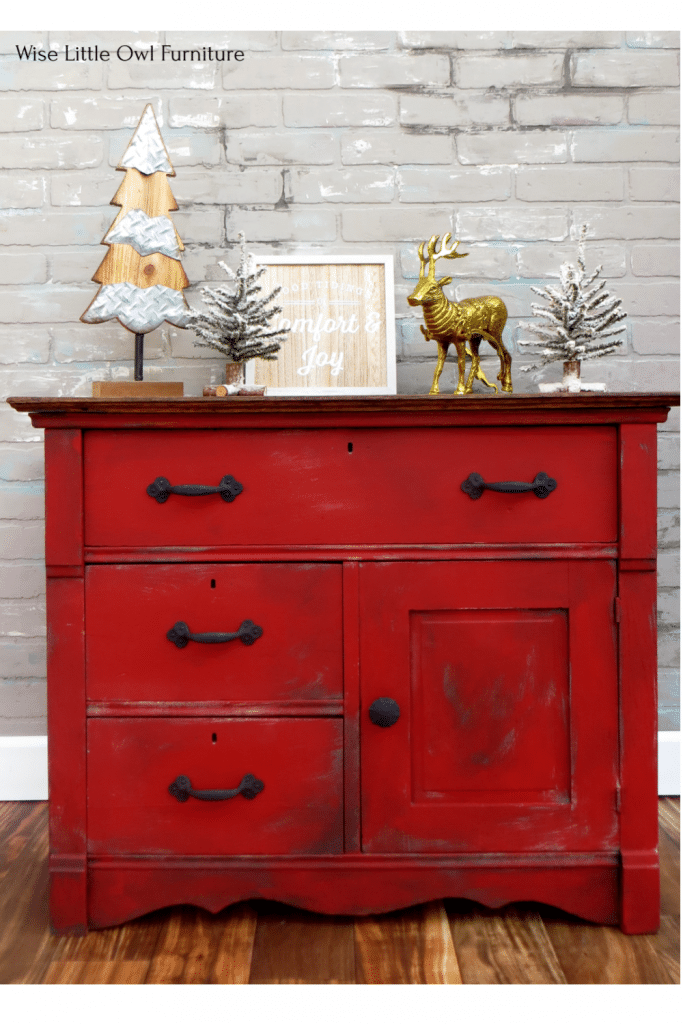 red washstand pin