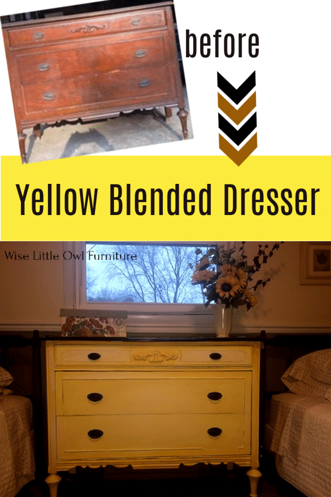 yellow dresser pin