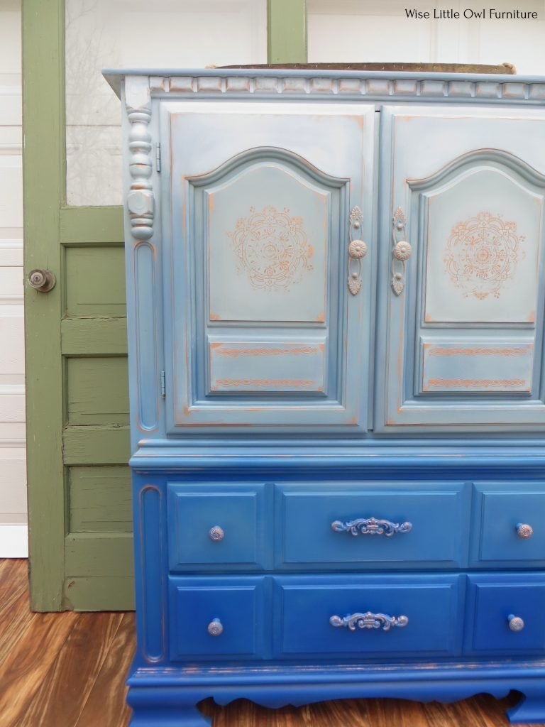 blue painted wardrobe cropped