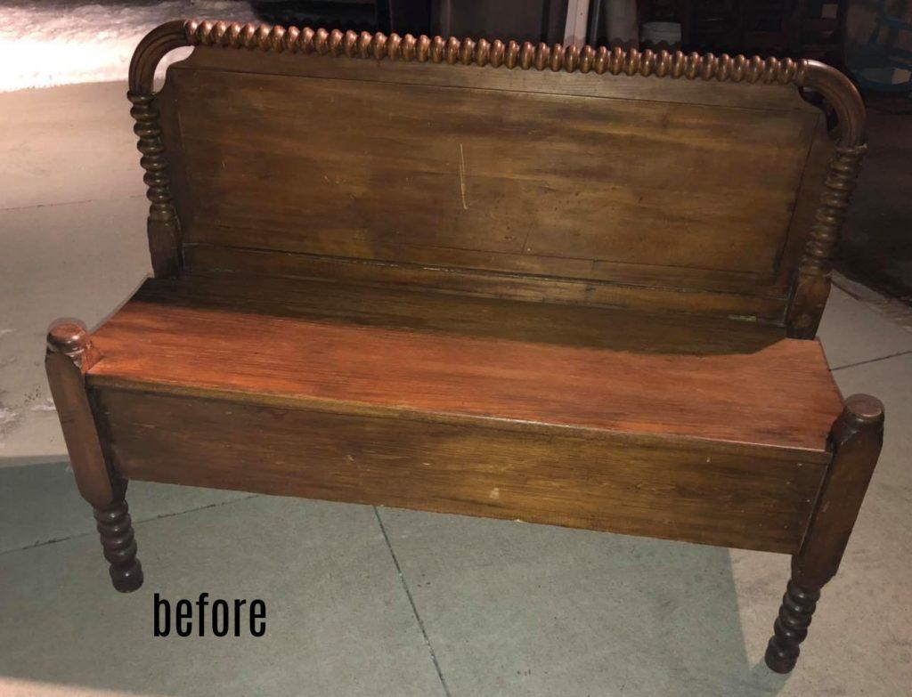 headboard bench before