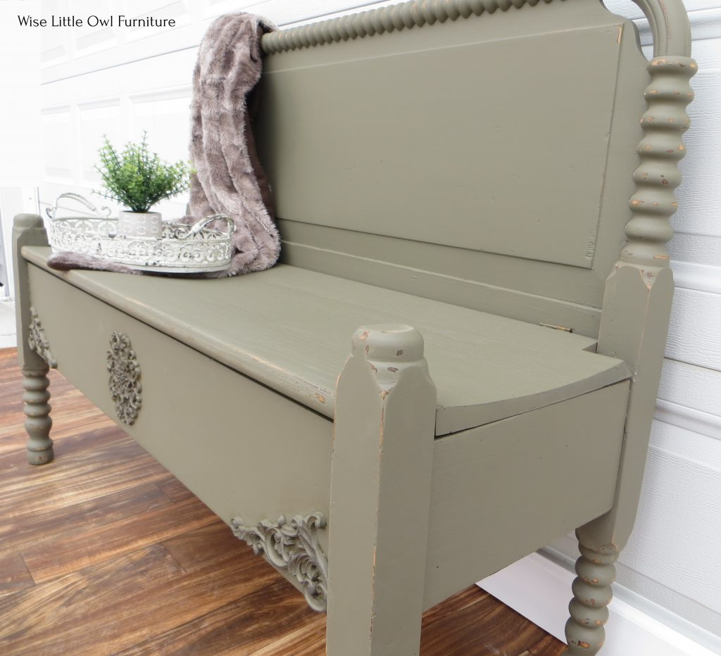 headboard bench right side angle
