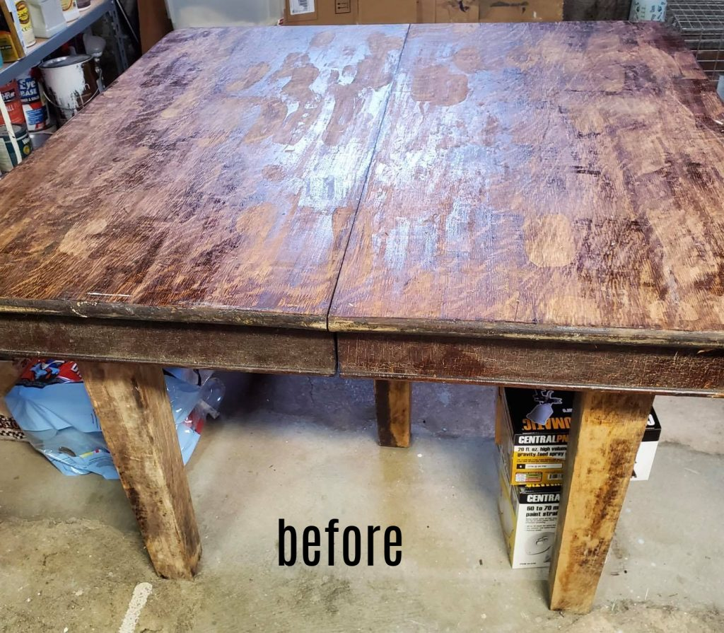 5 leg dining table before