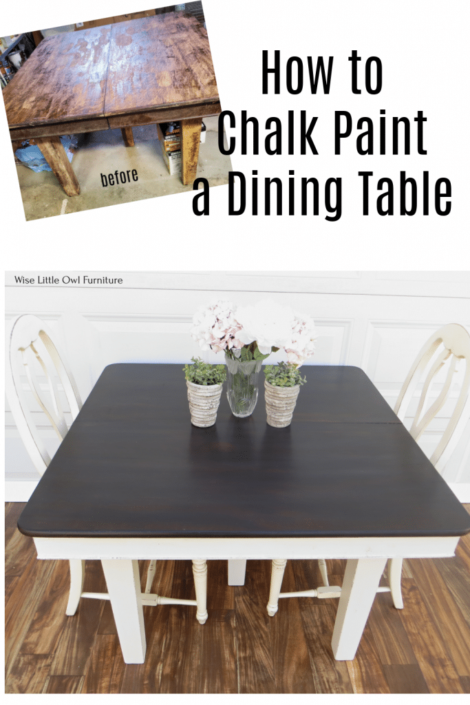 how to chalk paint a dining table pin