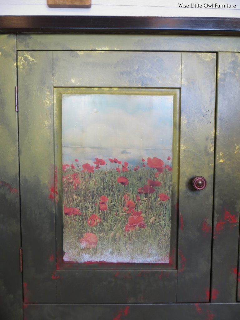 field of flowers door