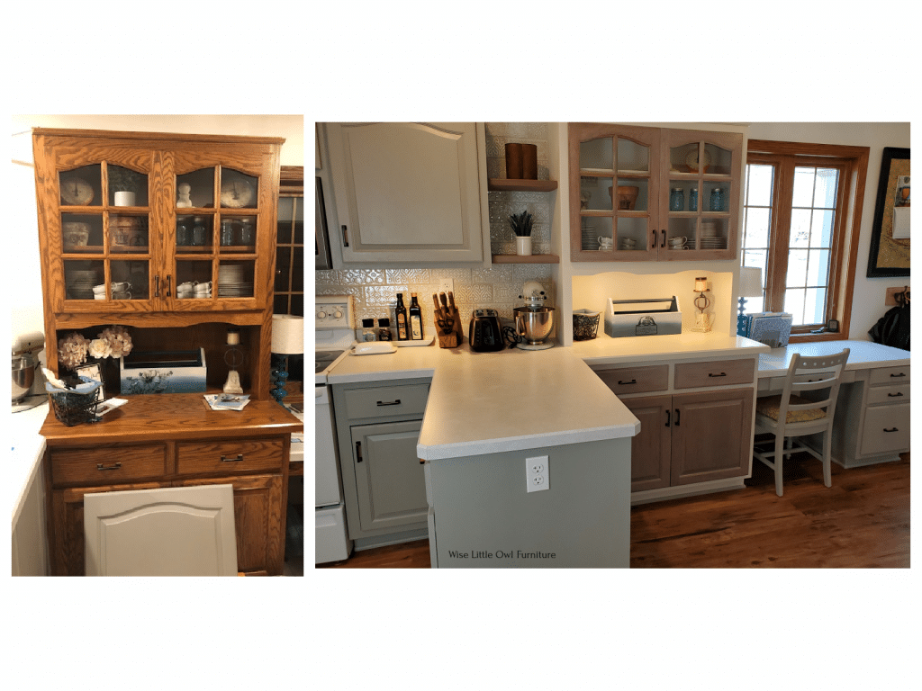 china cabinet before and after