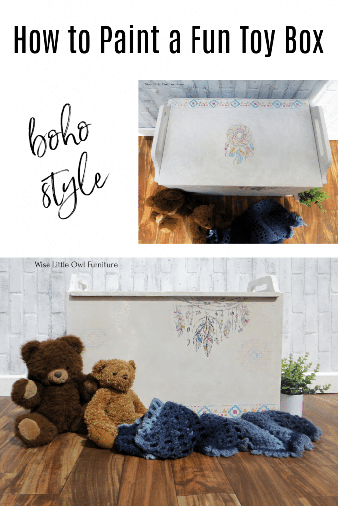 painted toy box pin