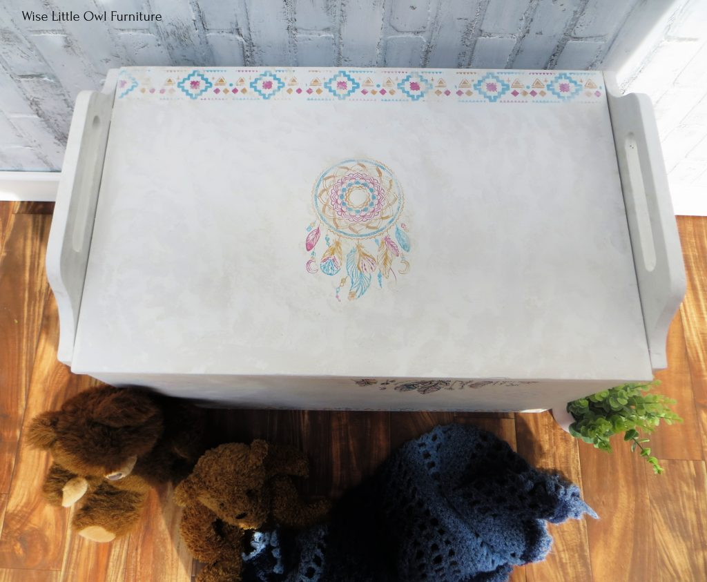 painted toy box top