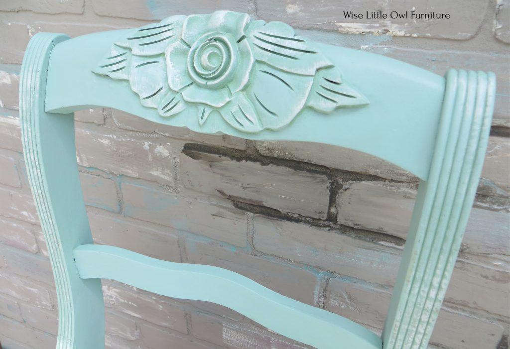 shabby chair detail