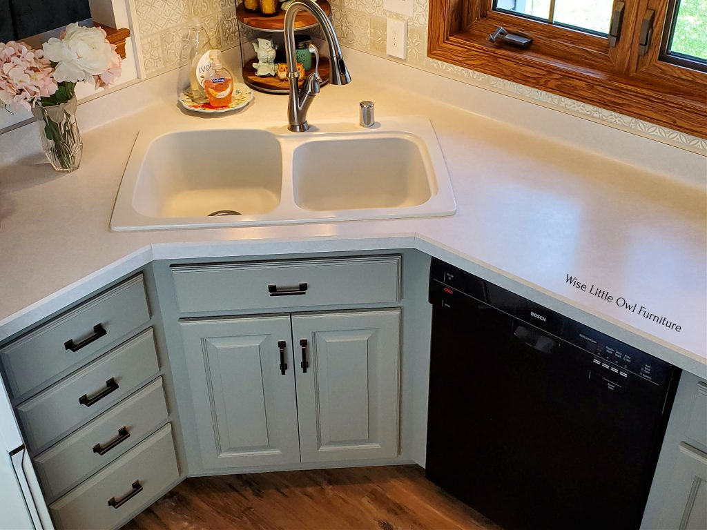 cabinet sink area