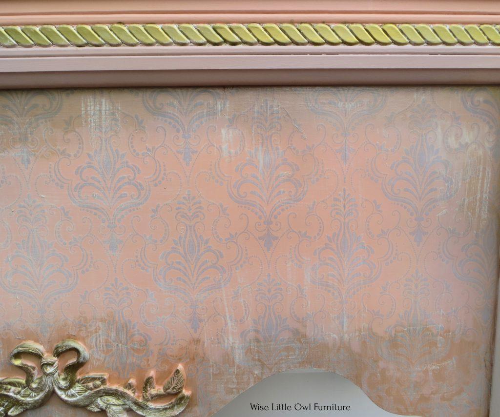 lace transfer closeup