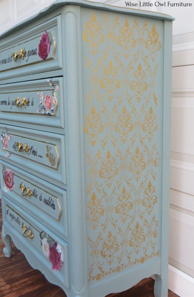 french design dresser side