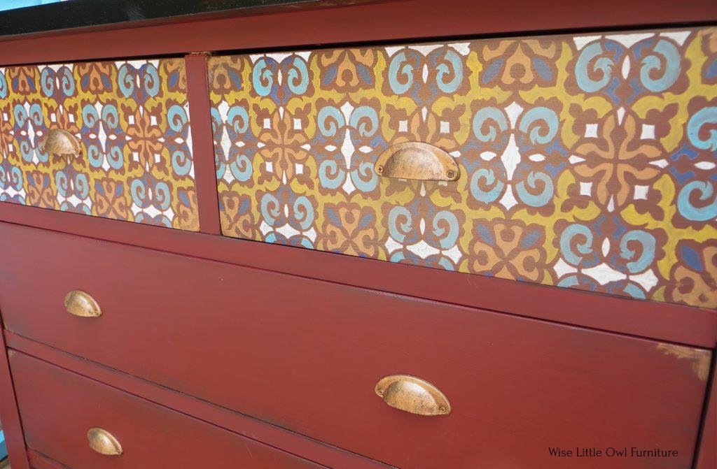 moroccan dresser closeup