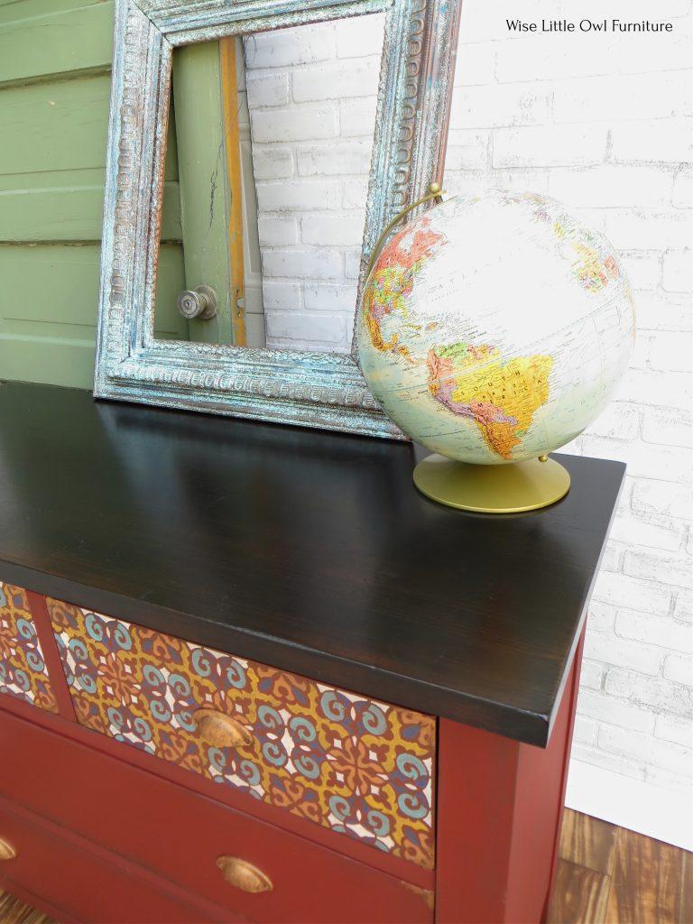 moroccan dresser top