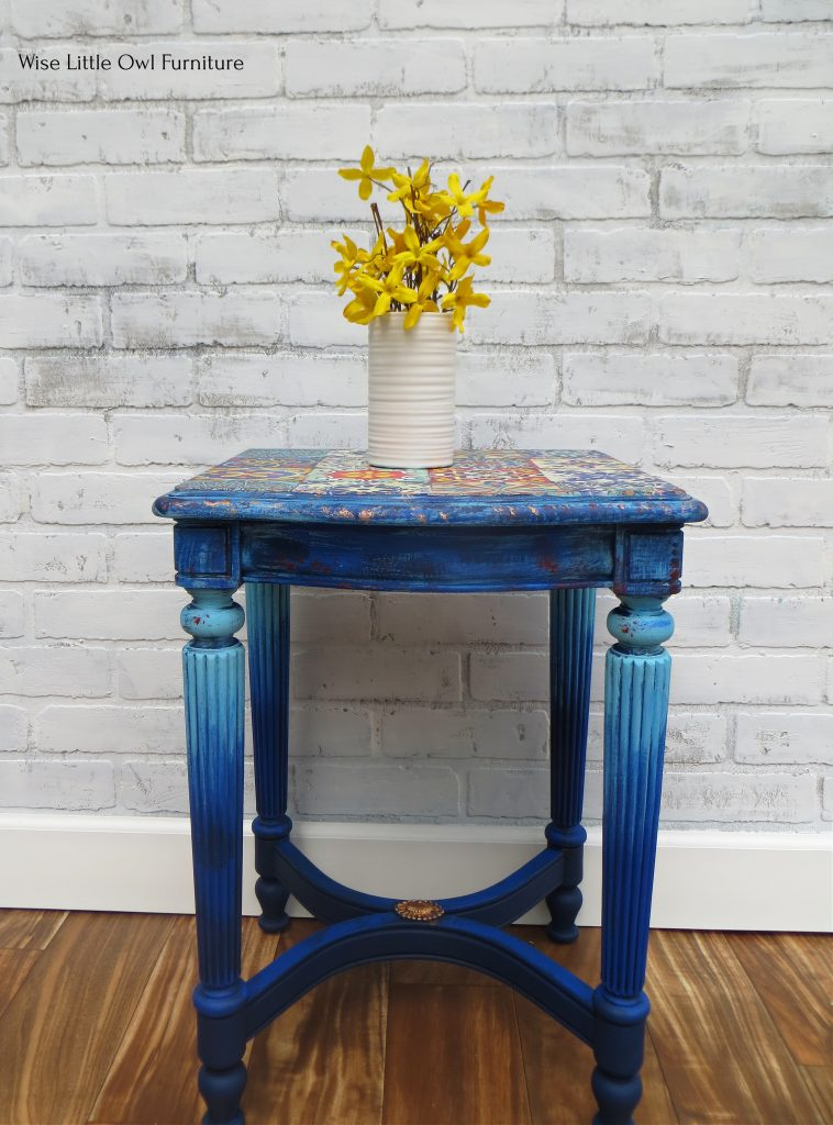 moroccan tile table full view