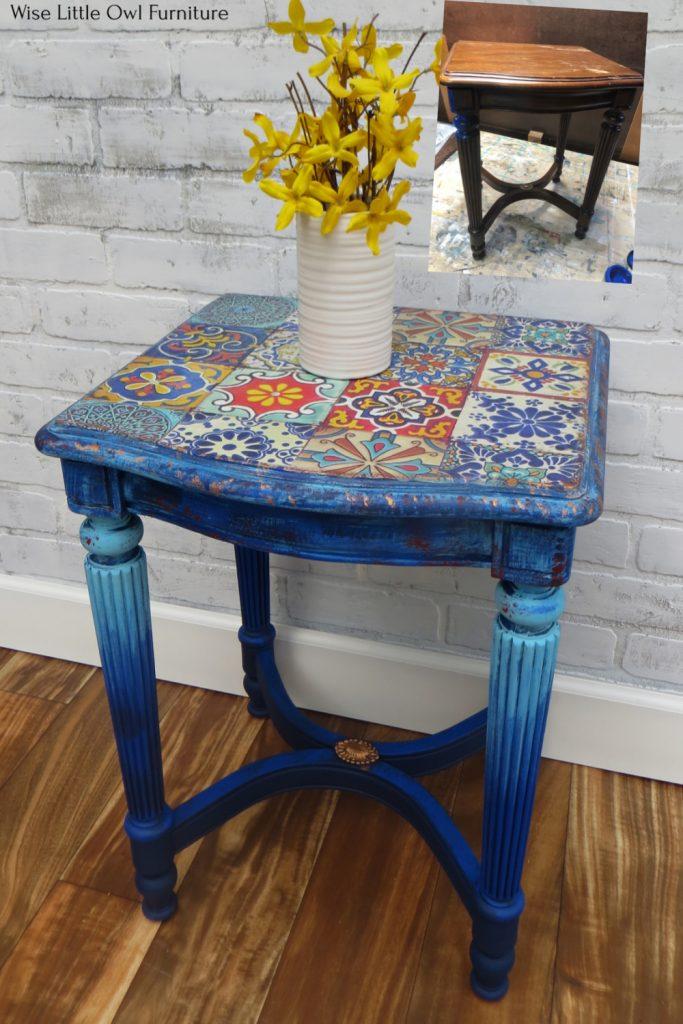 moroccan tile table pin