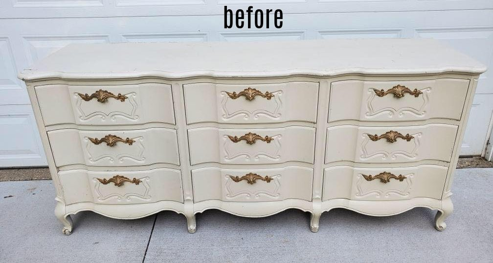 coral dresser before
