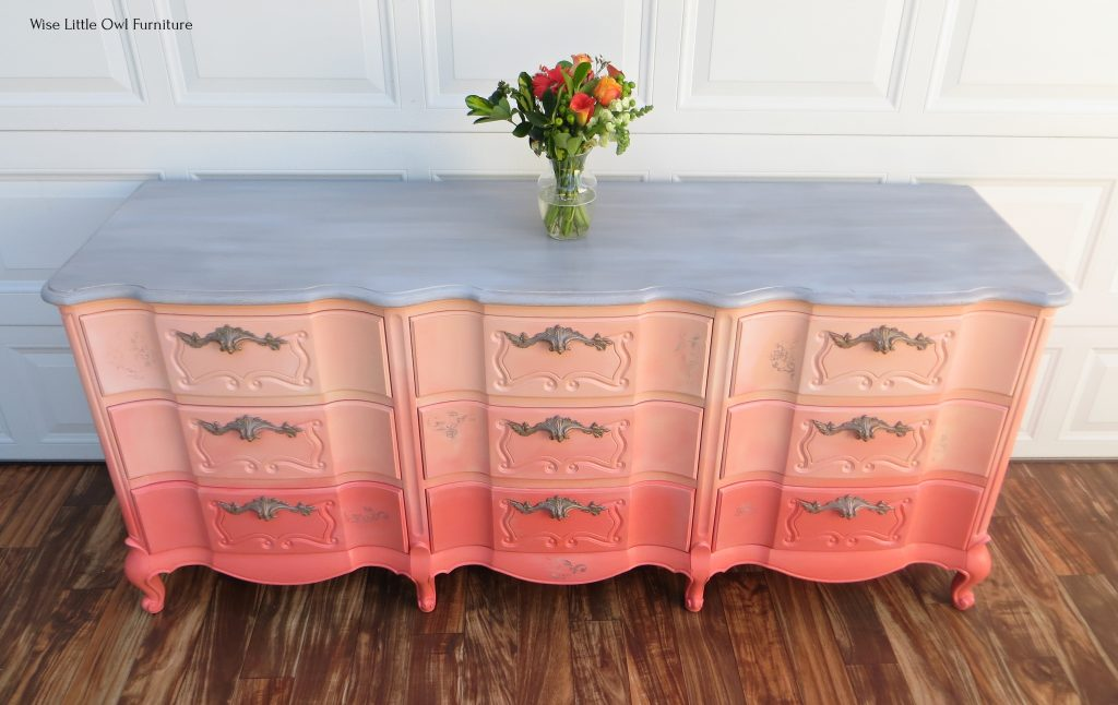 coral dresser top