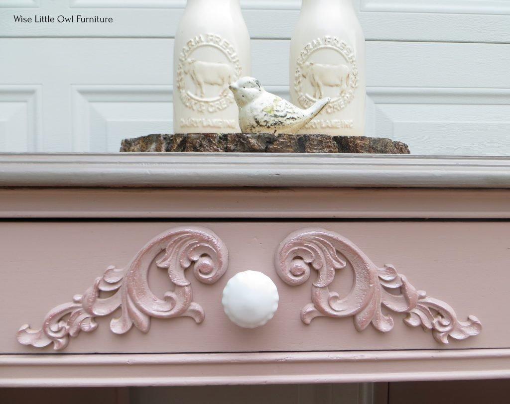 soft pink desk detail