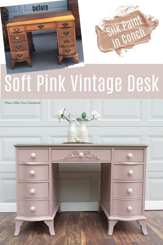 soft pink desk pin
