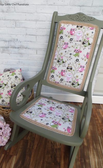owl rocking chair top