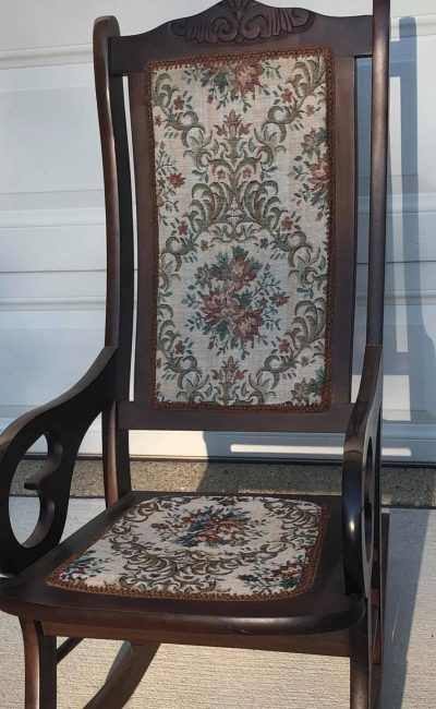 Painted rocking chair before